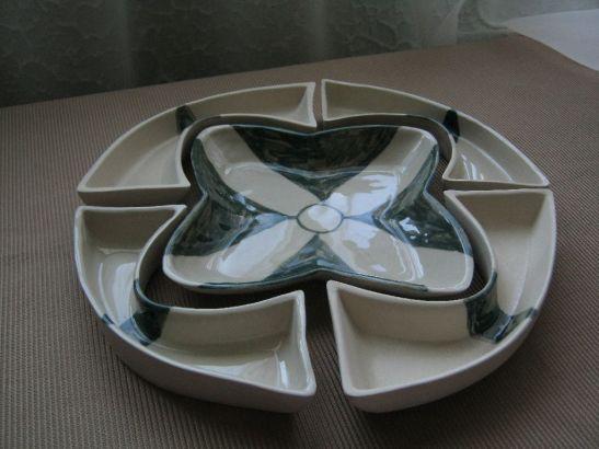 Platou modular din ceramica, artist Alina Constantin, pret 50 euro