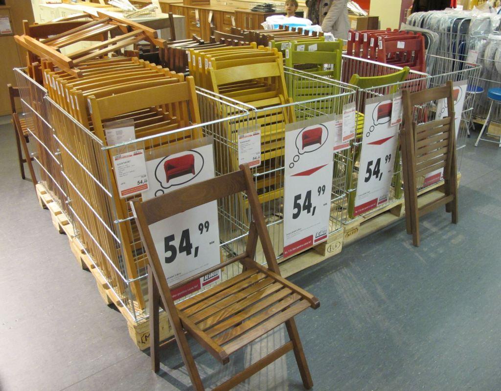 Scaune pliante pentru balcon si gradina in variate culori pret 54,99 lei de la kika