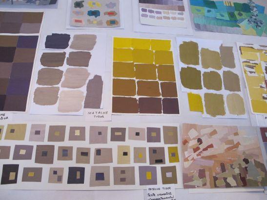 Studii de culoare expuse la Perceptia cromatica in teorie si practica Galeria UNArte