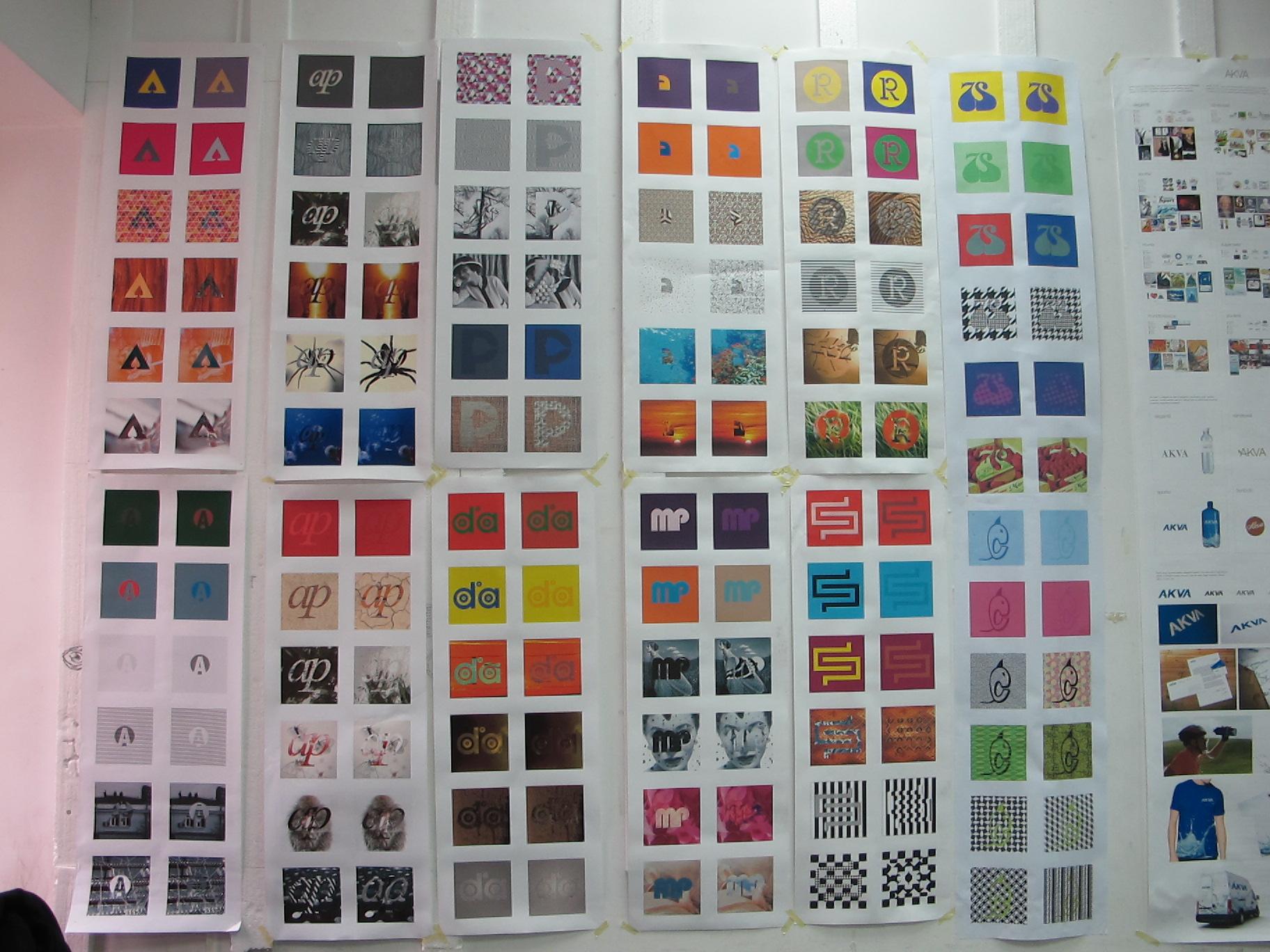 Studii de logo realizate de catre studentii de la design grafic, UNArte, februarie 2013