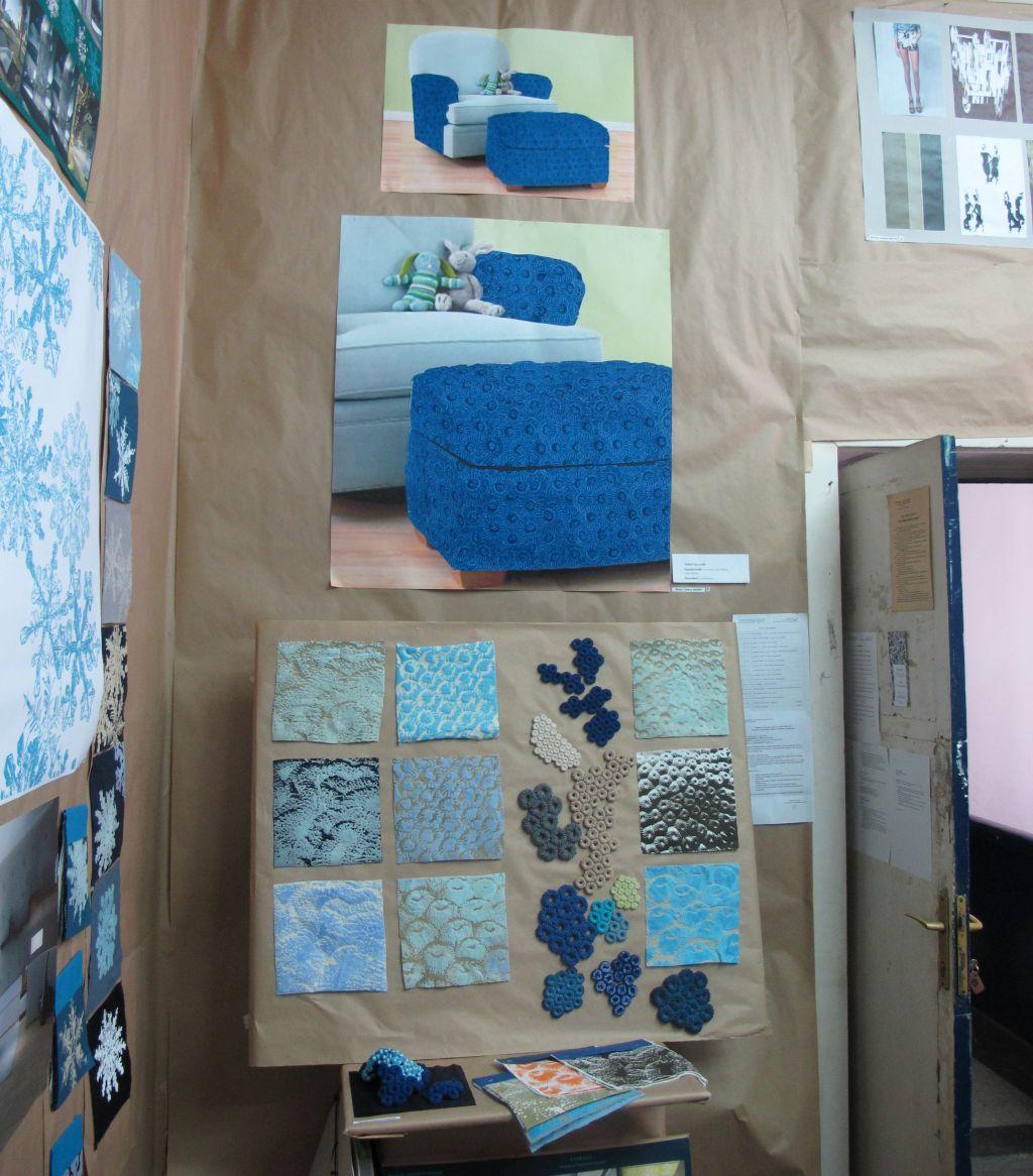Studiu de materiale textile pentru interior, studentii UNArte, master Arte Textile, februarie 2013