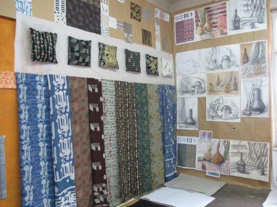 Textile imprimate manual si studii realizate de catre studentii de la Arte Textile, UNArte, febaruarie 2013