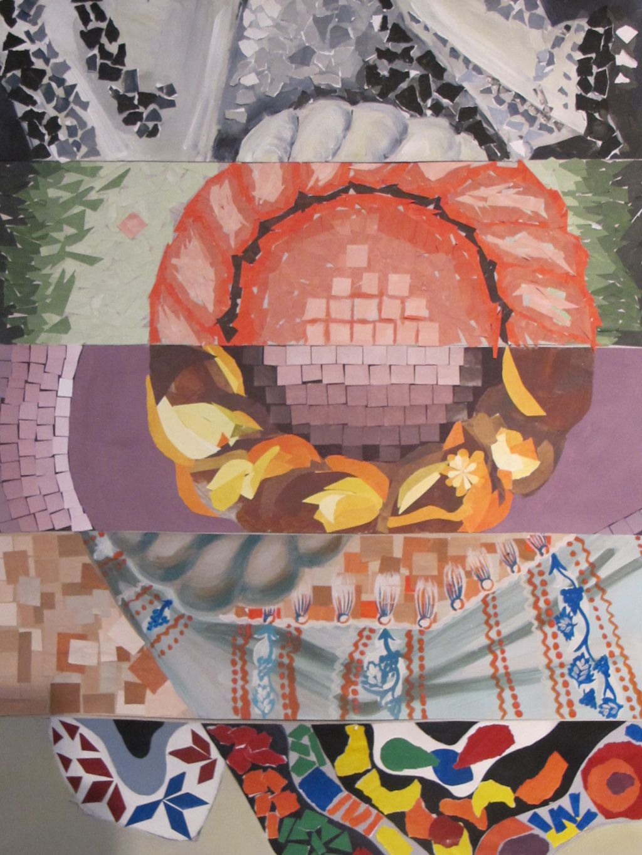 Traditional in contemporan contraste cromatice lucrare de grup Dumitru Glodeanu, Maria Andrei, Ana-Maria Zarnescu, Ileana Vasile, Elena Labusca