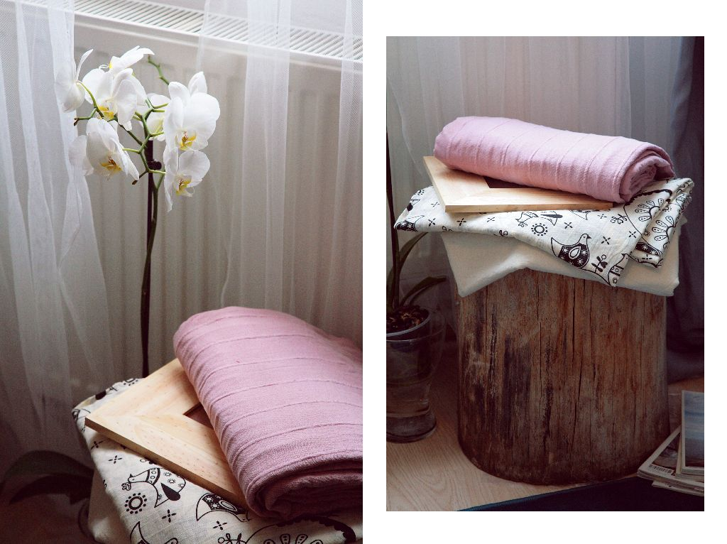 Un taburete natural aduce un plus de caldura camerei. Proiect amenajare Valdecor