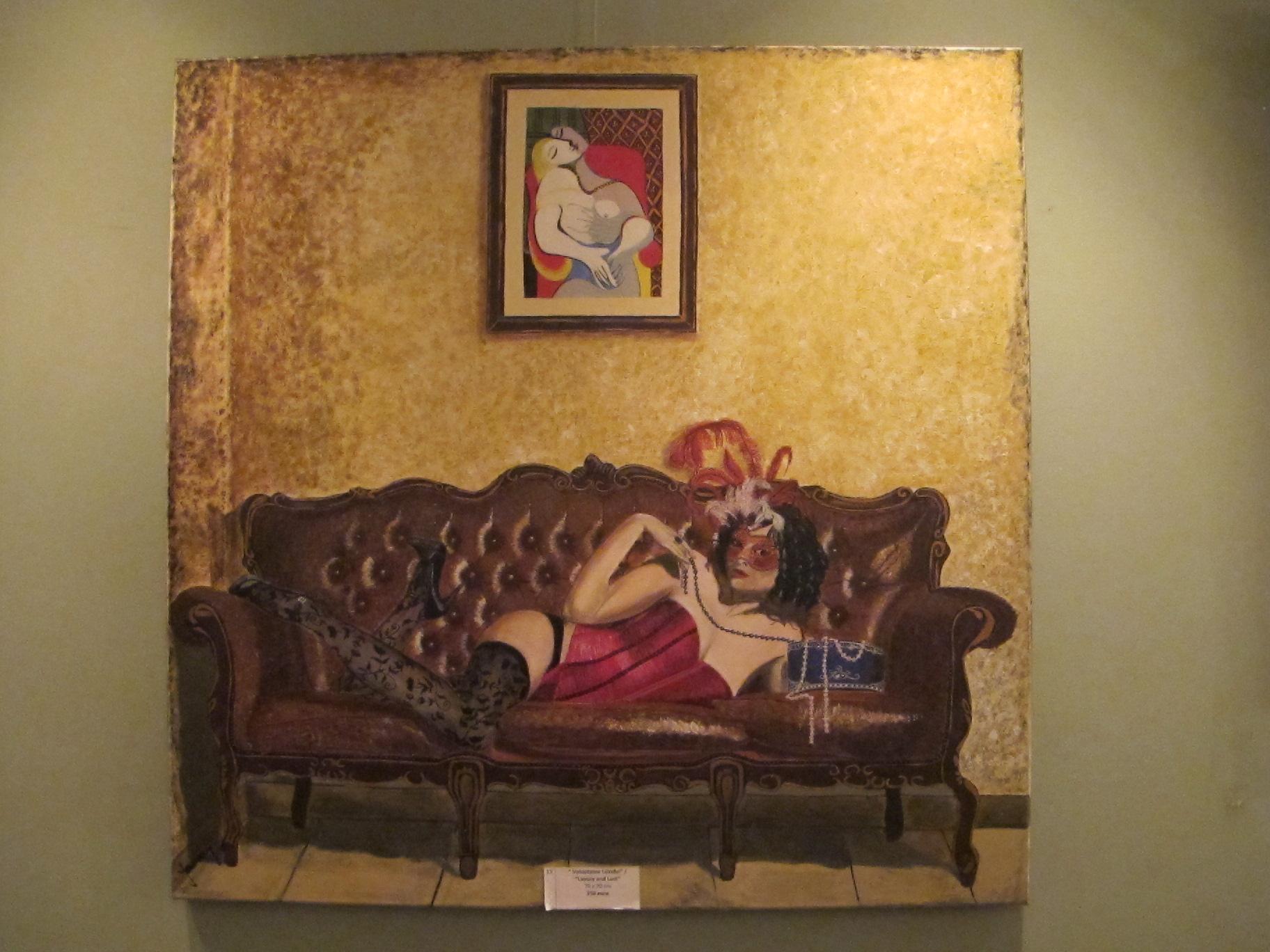 Voluptatea luxului / Luxury and Lust, 70 x 70 cm, 250 euro, Artist Orly Yanay