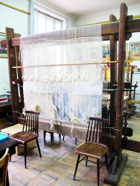Atelierul laborator pentru tesut sectia Arte si Design Textil UNArte