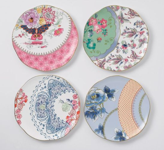 Butterfly Bloom set de 4 farfurii