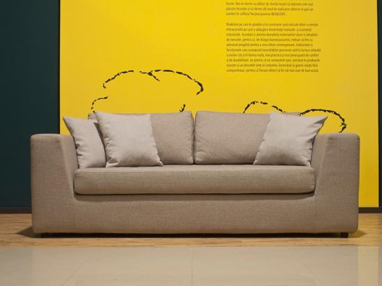 Canapea Erik, dimensiuni 196x89cm, 2734 lei fixa si 3119 lei extensibila cu saltea de 120x178x7cm, de la Bed & Sofa