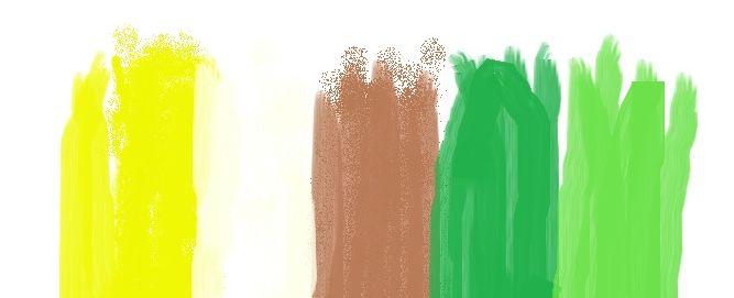Cromatica alb galben maro verde