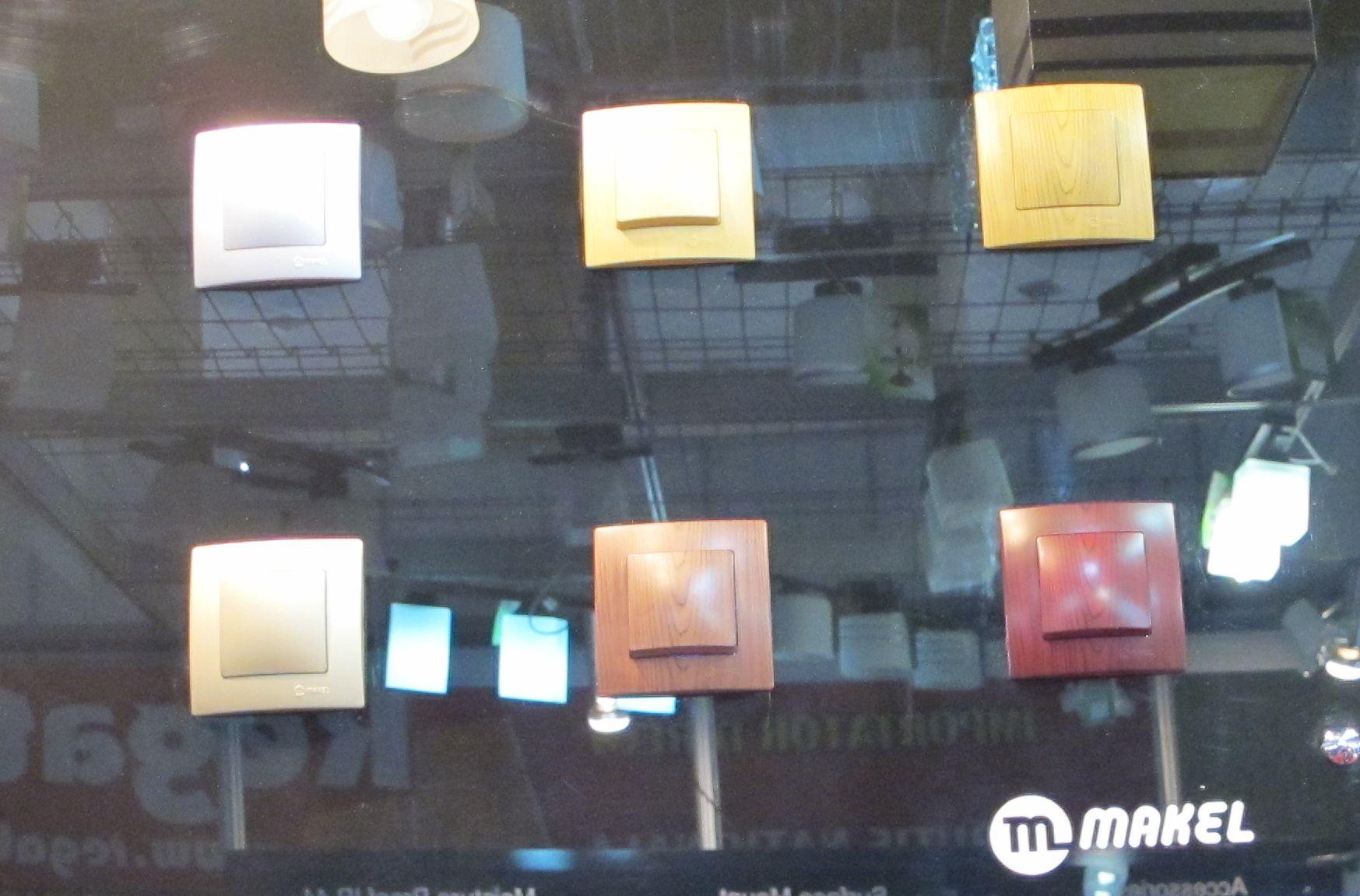 Intrerupatoare imitatie din lemn de la Deco concept lighting