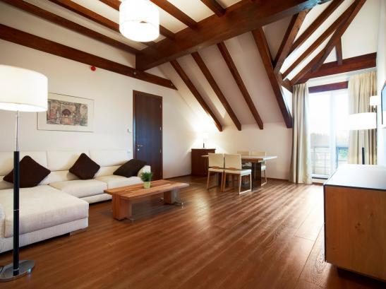 Livingul apartamentului Presidential Suite de la Hotel Ana Sport