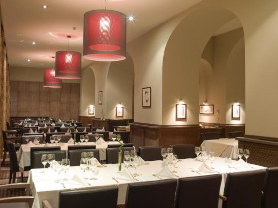 O parte a restaurantului de la primul nivel al Hotelului Ana Sport