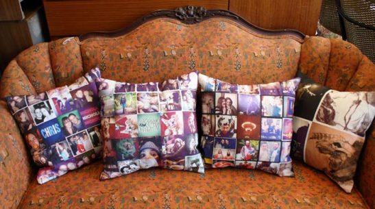 Perne personalizate realizate de Photoliu cu textile imprimate cu imagini Instagram