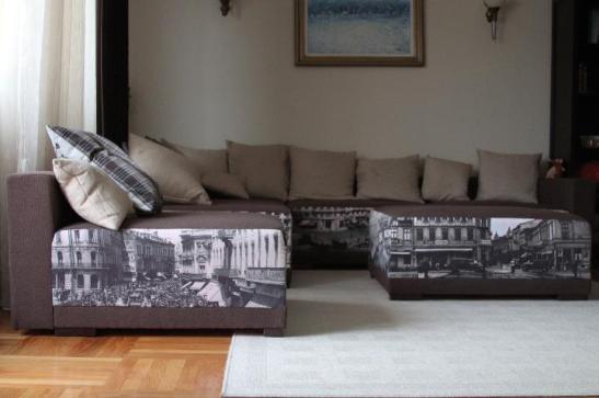 Tapiterie canapea personalizata creata de echipa de la Photoliu