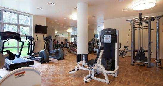 Vedere asupra uneia din salile de sport de la centrul Spa al Hotelului Ana Sport