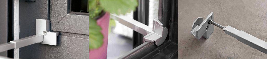 Cleme pentru sistemul de siguranta al ghivecelor si jardinierelor