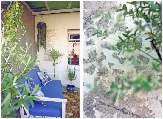Contrast de nou si vechi pe terasa amenajata de Val Decor