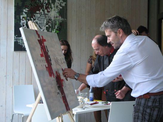 Eveniment la Atra picturile lui Ramon Grosos reinterpretate in arta culinara de Chef Maurizio Laudi