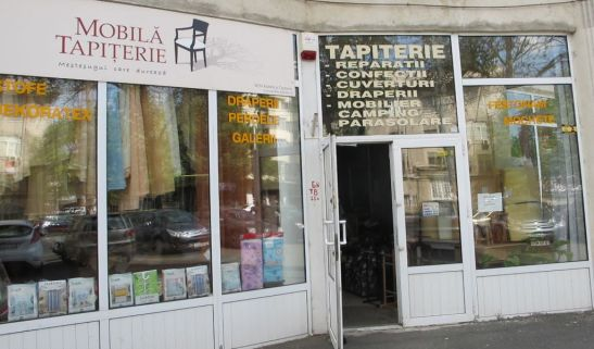 Fatada atelierului Mobila si Tapiterie din Bd Ion Mihalache 123 bl 8 Bucuresti
