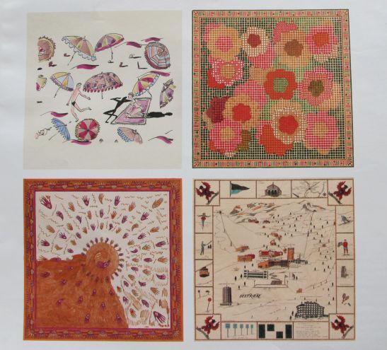Printuri dupa desenele originale realizate de marchizul Emilio Pucci care sunt incluse in albumul Pucci, Vintage Art Edition editat de Tachen
