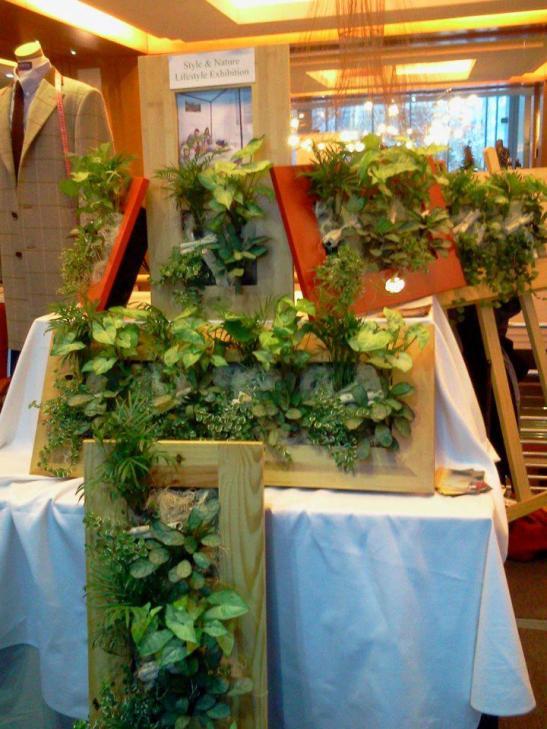 Tablouri cu plante intr-un stand al firmei Arta Gradinilor