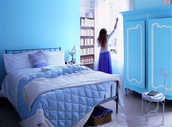 Albastru romantic in camera de odihna Foto Copyright © Akzo Nobel