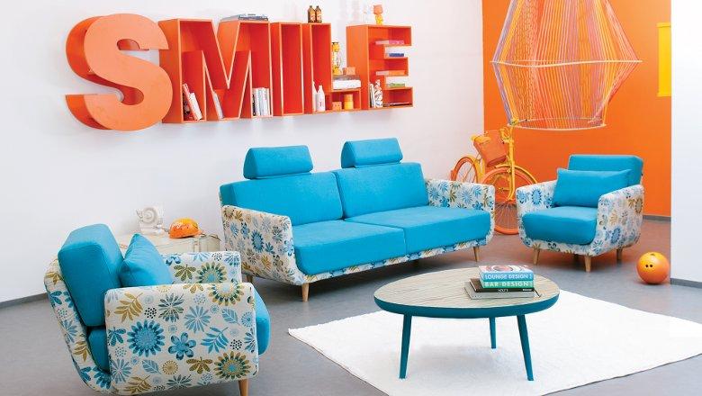 Canapea Miami, produsa de Mobila Dalin, extensibilă 2 locuri pret 1971 lei, fotoliu 663 lei la Lems
