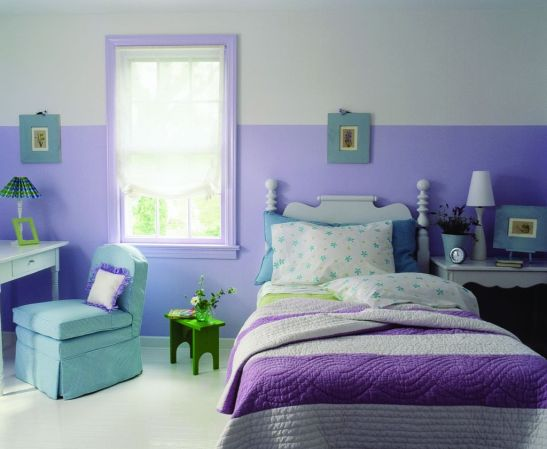 Dormitoarele mov sunt preferate de multe adolescente Foto Copyright © Akzo Nobel