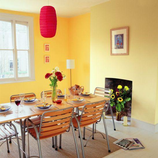 Doua nuante de galben in sufragerie Foto Copyright © Akzo Nobel