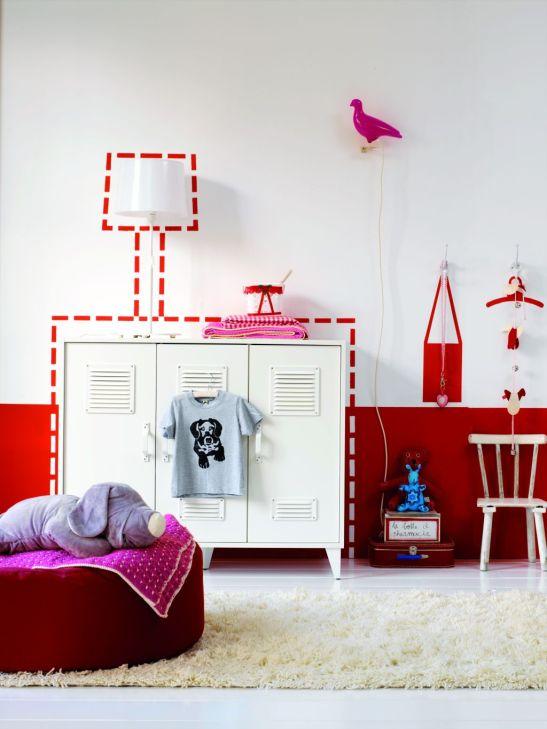 Idee de a colora partial cu rosu camera copiilor Foto Copyright © Akzo Nobel