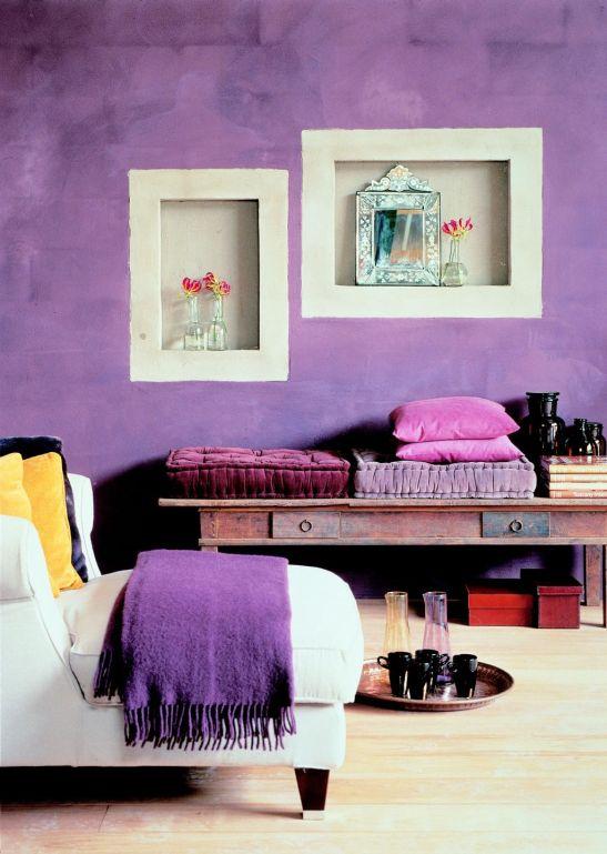 In camere luminoase violetul aduce o nota de rafinament Foto Copyright © Akzo Nobel