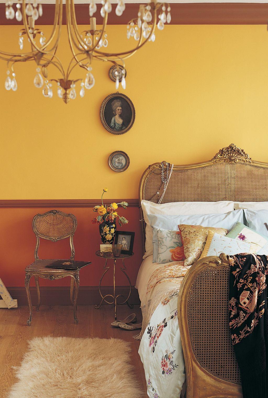 Nuanta de galben in combinatie cu ton de caramiziu Foto Copyright © Akzo Nobel
