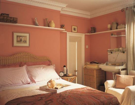 Nuanta de piersica in dormitor Foto Copyright © Akzo Nobel
