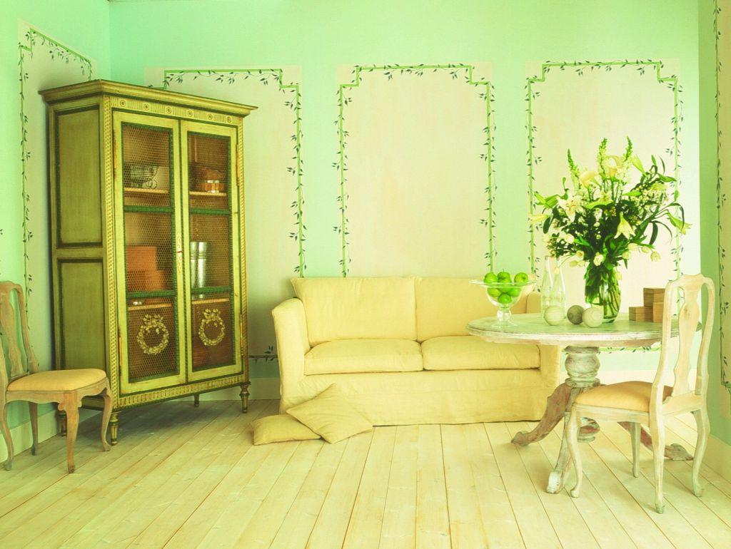 Nuanta de verde dulce pentru interioare shabby chic Foto Copyright © Akzo Nobel