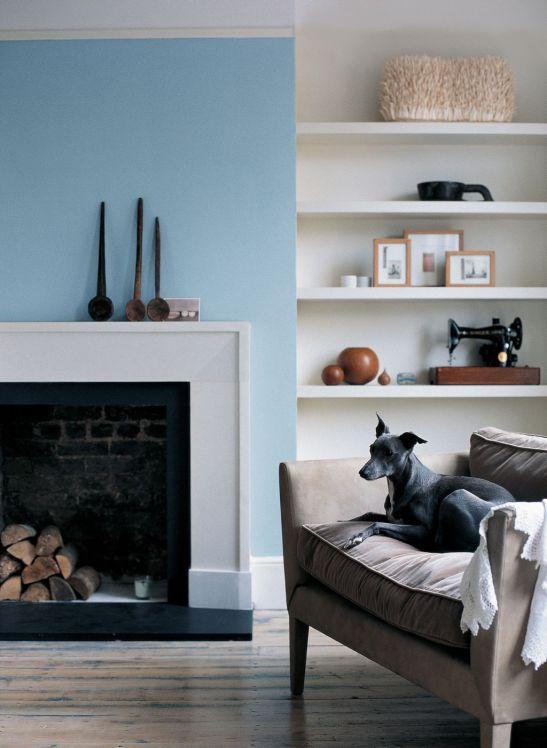 Nuanta de albastru deschis in living Foto Copyright © Akzo Nobel