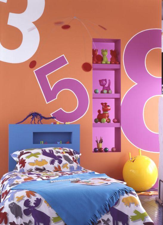 Portocaliu in camera copiilor Foto Copyright © Akzo Nobel