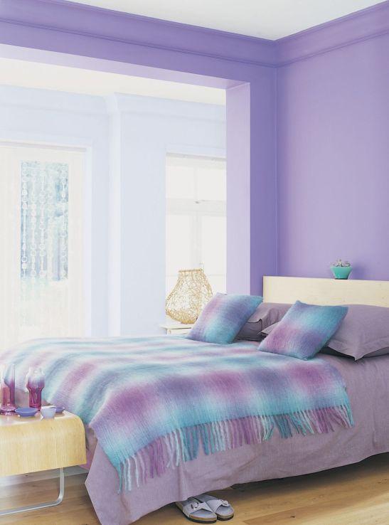 Tonuri de mov pastelat in dormitor Foto Copyright © Akzo Nobel