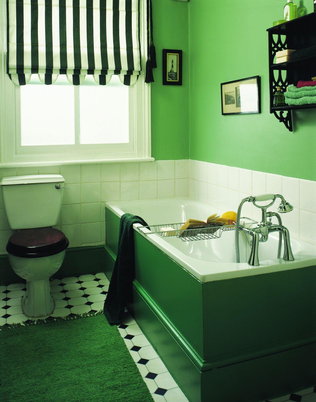 Verde vibrant in combinatie cu alb si negru Foto Copyright © Akzo Nobel