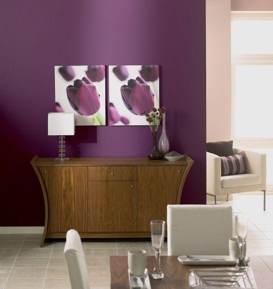 Violet sofisticat pentru zona de zi Foto Copyright © Akzo Nobel