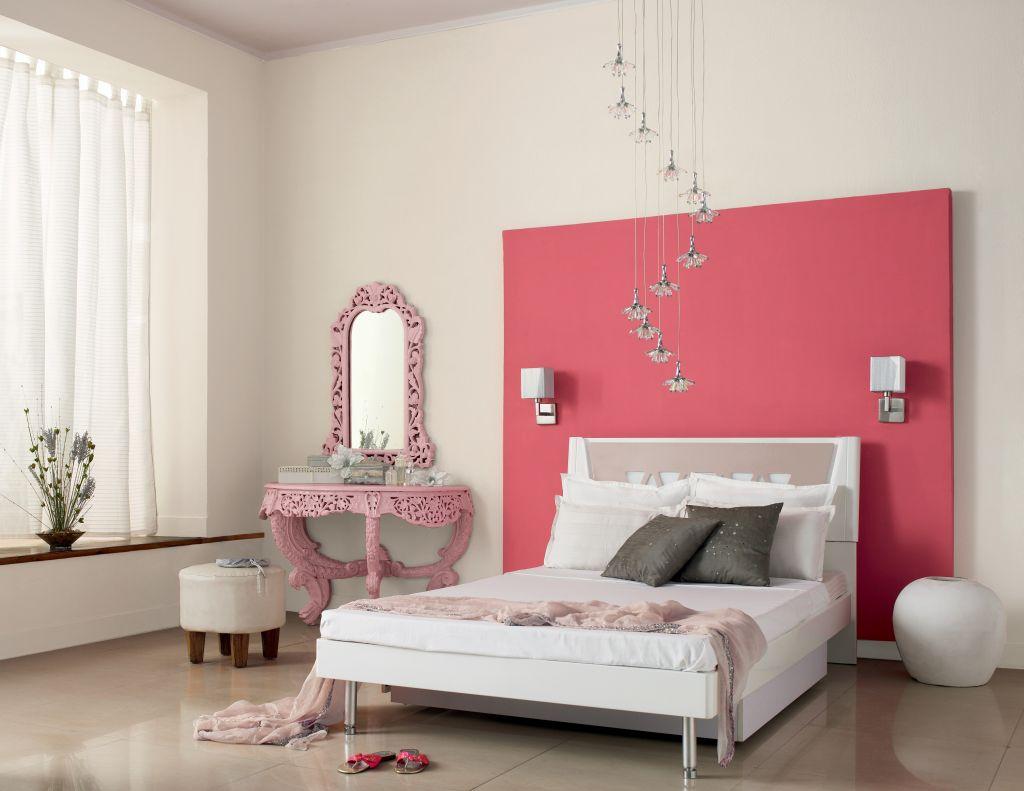 Zona de roz dulce in dormitor Foto Copyright © Akzo Nobel