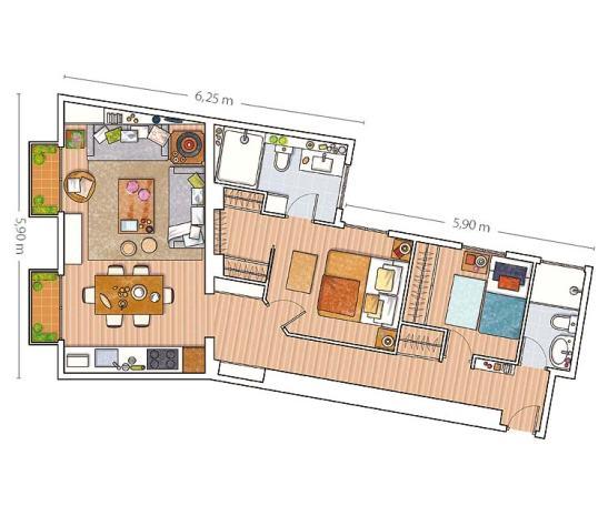 adelaparvu.com despre apartament cu mobila din lemn (13)