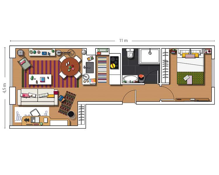 adelaparvu.com despre apartament lung si ingust  (13)