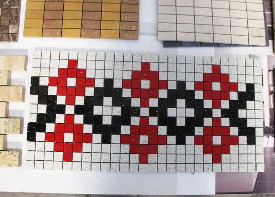 Mozaic cu motive romanesti, urmeaza a fi lansat pentru clienti care au ca tema de amenajare rusticul. Se potriveste d eminune si in restaurante, crame si pensiuni
