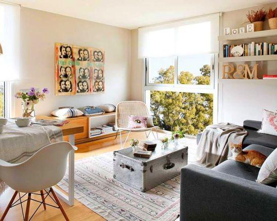 adelaparvu.com despre apartament moden gri si maro Foto Micasa (2)
