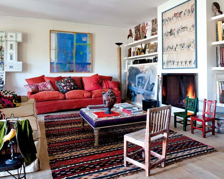 adelaparvu.com despre casa artistei Isabelle Deborchgrave foto Micasa (1)