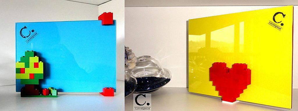 Rame foto cu piese lego create de Convergenze