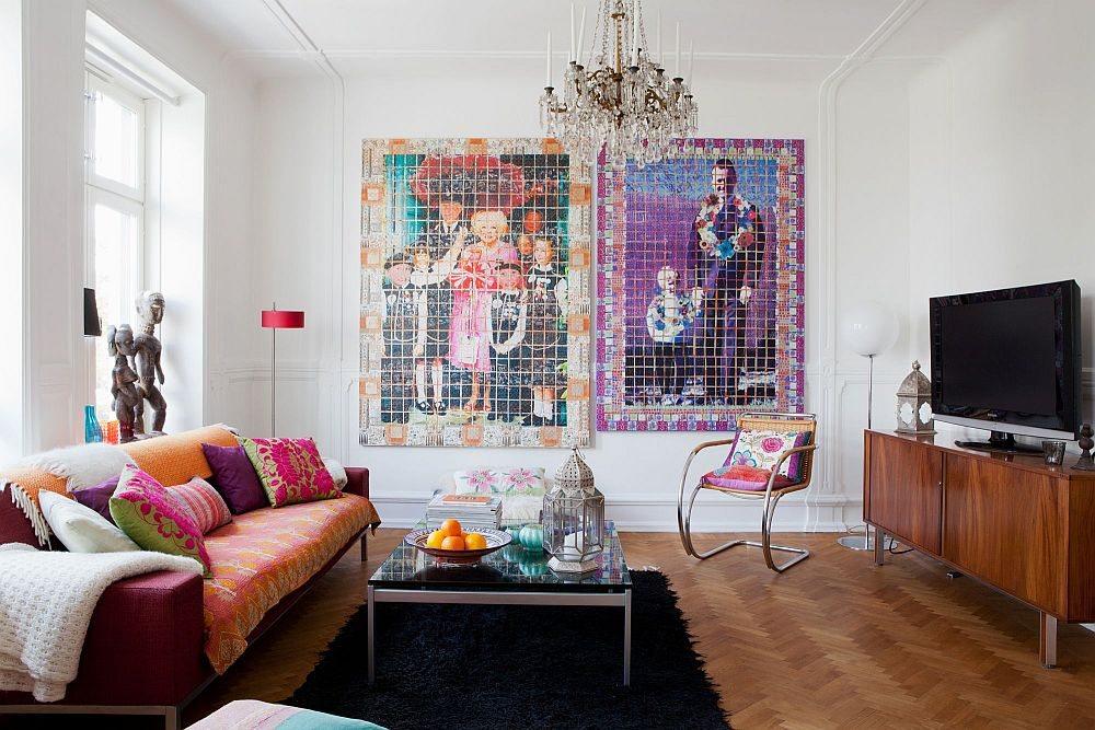 adelaparvu.com despre interior vintage cu decoratiuni colorate (13)