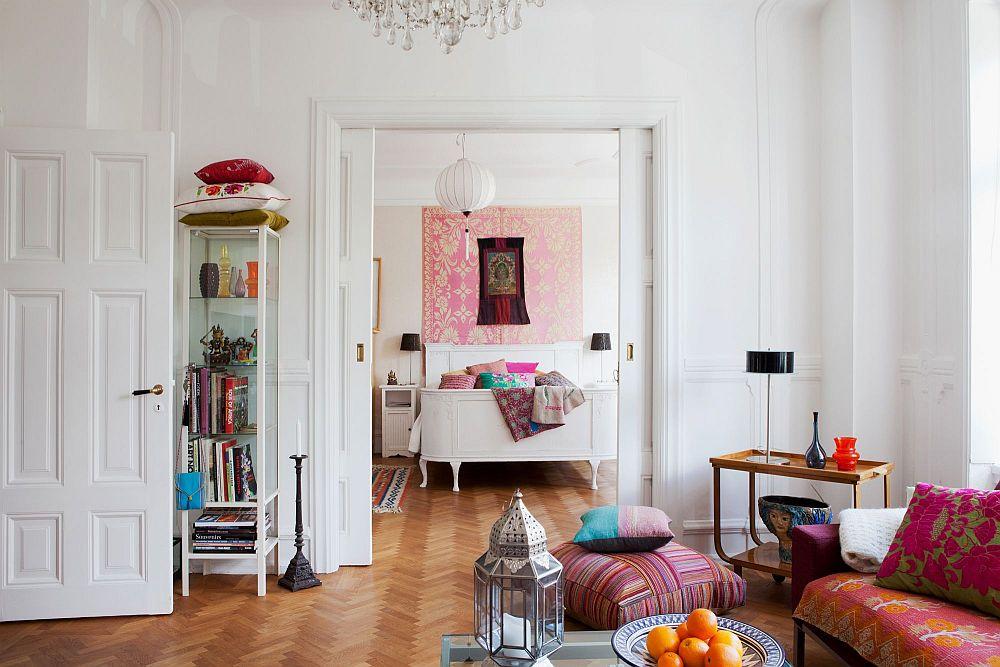 adelaparvu.com despre interior vintage cu decoratiuni colorate (15)