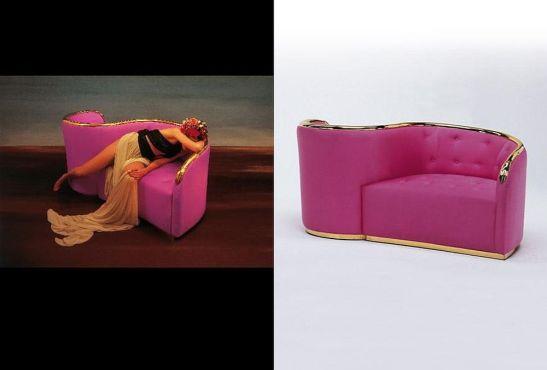 Sofa Vis à vis de Gala, design Salvador Dali 1935-1937